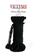 Festish Fantasy Deluxe Silk Rope Black 32 Feet